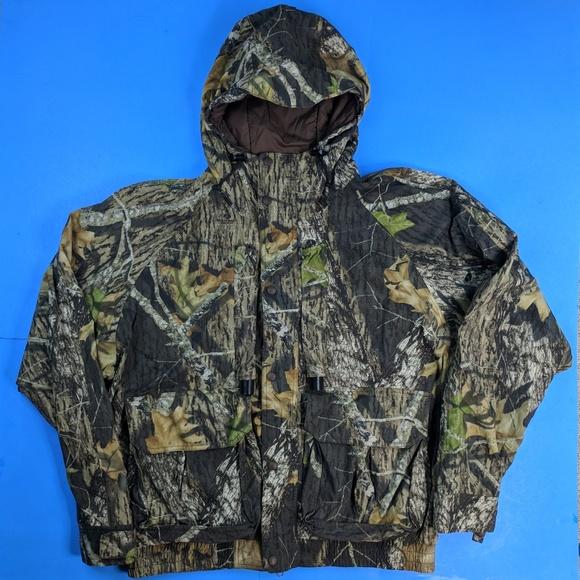7c17a123436e2 Cabela's Jackets & Coats | Cabelas Mossy Oak Rain Camo Hunting Dry ...